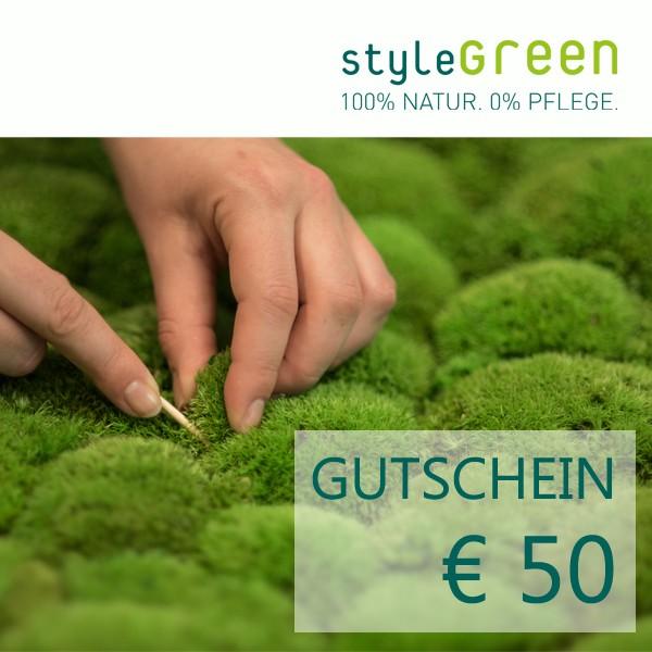 50 CHF Gutschein für den styleGREEN Onlineshop